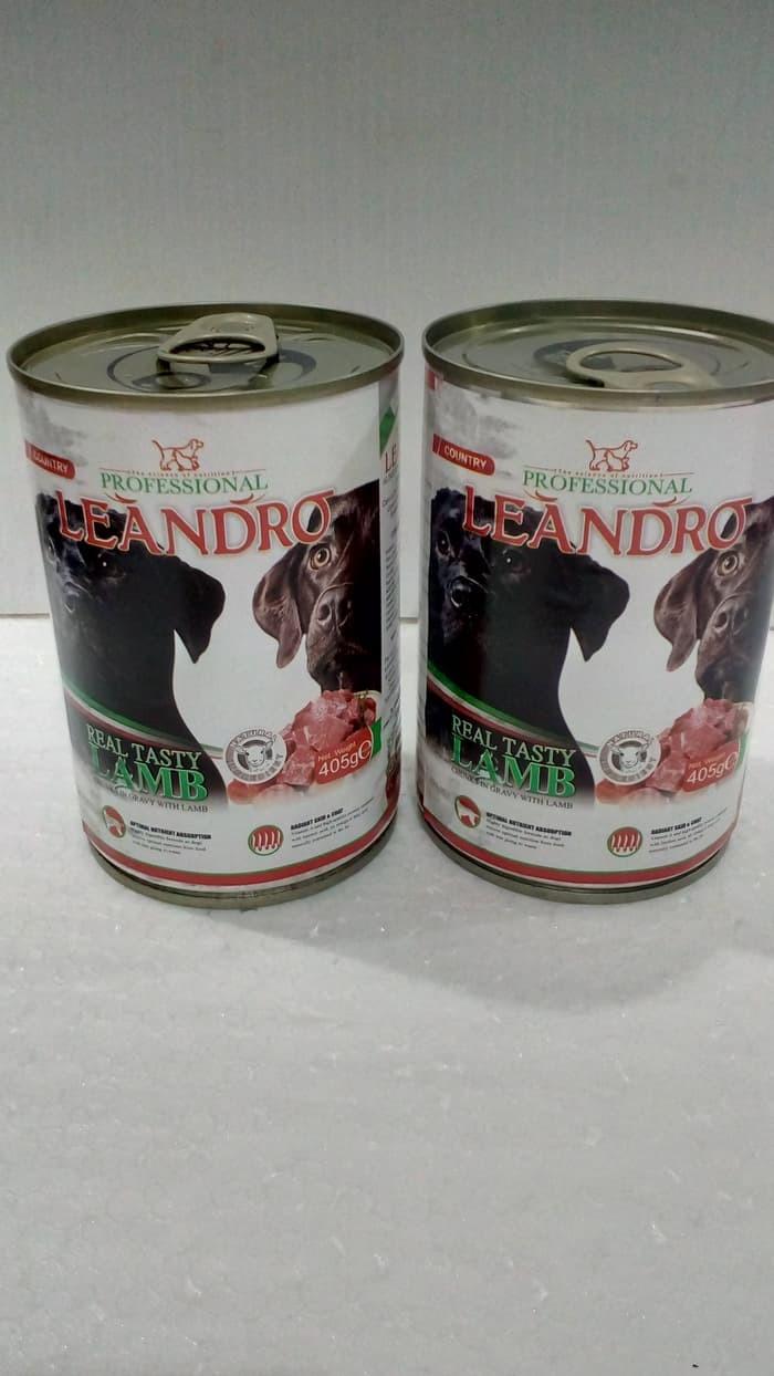 Tempat Makan Minum Tidur) Leandro wet dog food lamb 400g (694)