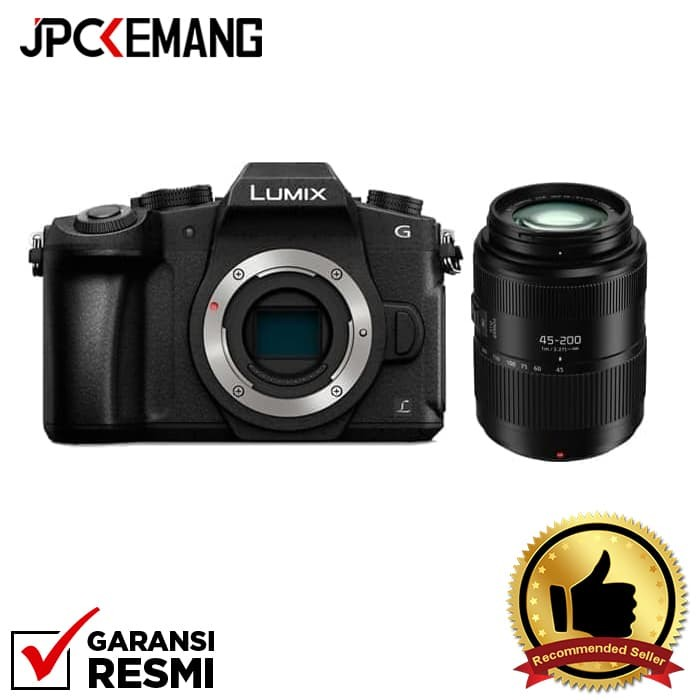 harga Panasonic lumix dmc-g85 body (black) + lumix g vario 45-200mm f/4-5.6 Tokopedia.com
