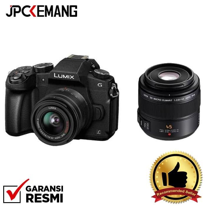 harga Panasonic g85 kit 14-42mm ii + panasonic leica 45mm f/2.8 Tokopedia.com