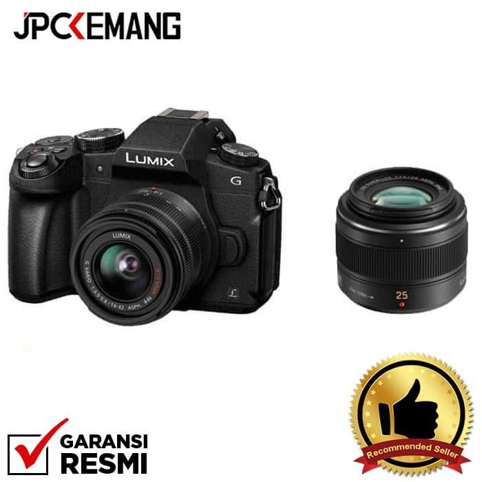 harga Panasonic lumix g85 kit 14-42mm + panasonic leica 25mm f/1.4 Tokopedia.com