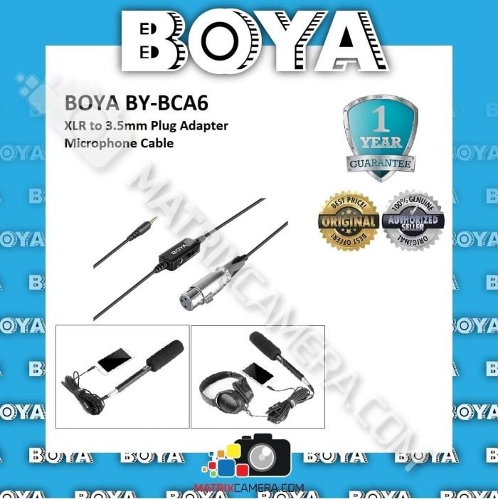 Foto Produk BOYA BY-BCA6 XLR to 3.5mm Plug Adapter Microphone Cable dari MatrixCamera
