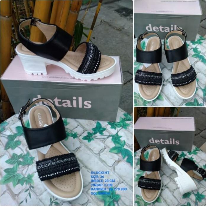 Sepatu Sandal High Heels Wanita Details | Sandal Wedges Wanita Nevada