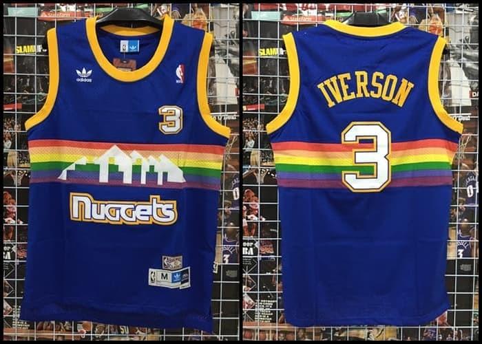 pretty nice 2b81e ac129 Jual Jersey NBA Classic HWC Nuggets #3 Iverson Rainbow Pelangi - Kota Batam  - Top Sneaker Store   Tokopedia