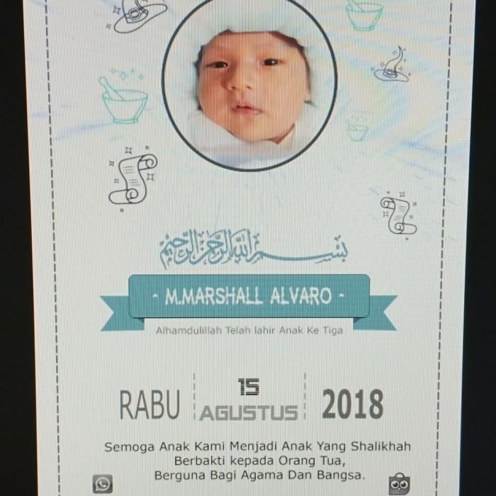 Jual kartu ucapan aqiqah - Jakarta Barat - Akifa online ...