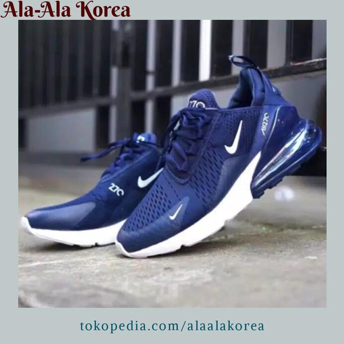 new product 4bb22 f729a Jual Sepatu Pria Nike Air Max 270 Navy Blue White Original Premium Sneakers  - DKI Jakarta - Ala Ala Korea   Tokopedia