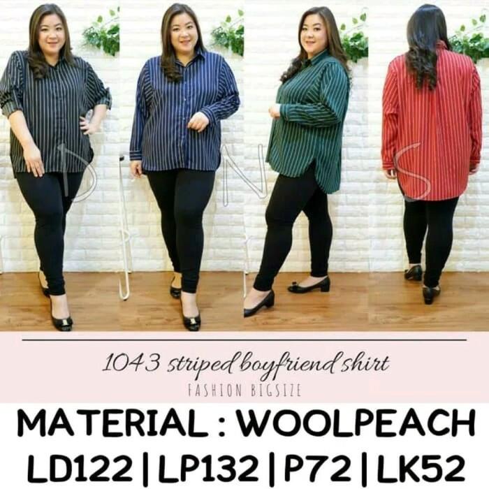 Jual Best Model Atasan Baju Wanita Casual Formal Blouse Stripe Garis Fashi Kota Surabaya The Dress Code Tokopedia