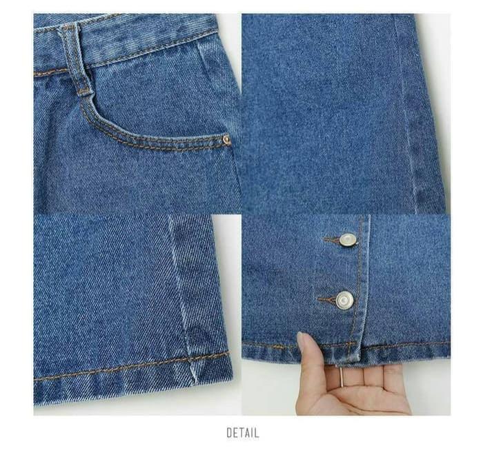 Jual Button Denim A Line Skirt 6043 Rok Wanita Jeans Rok Kancing Harga Rp 141.700