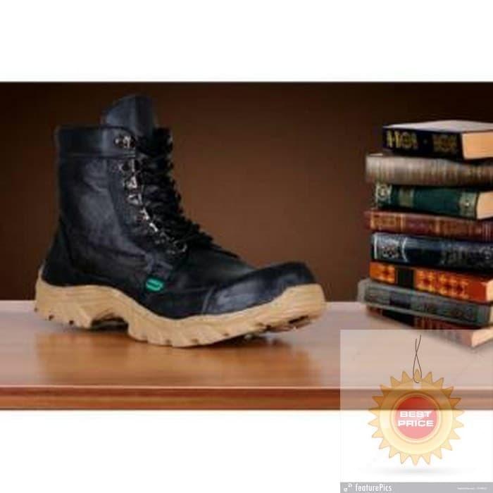 Jual DEVINA Sepatu boots pria safety kickers kulit sapi asli black ... 95749b0bf8