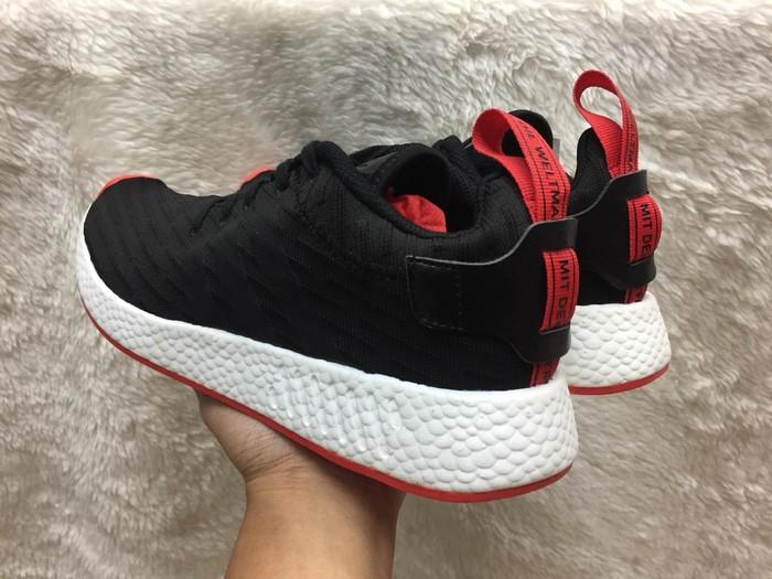 c2c51f50b Jual Sepatu Pria SEPATU ADIDAS NMD R2 PRIMEKNIT BLACK RED PREMIUM ...