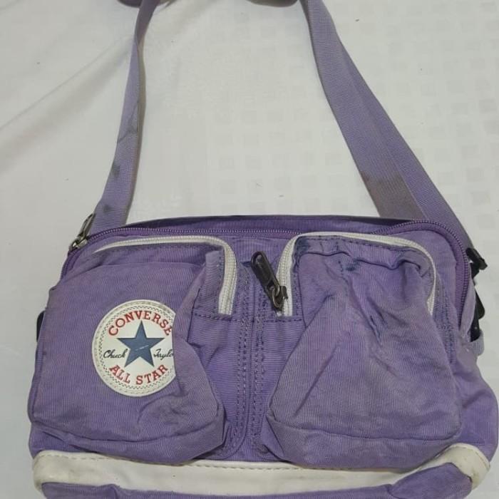 Jual tas slingbag CONVERSE ALL STAR original purple size 23x16cm ... b2fdd2f9e6c5d