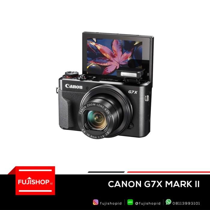 harga Canon - powershot g7 x mark ii 20.1-megapixel digital camera - black Tokopedia.com