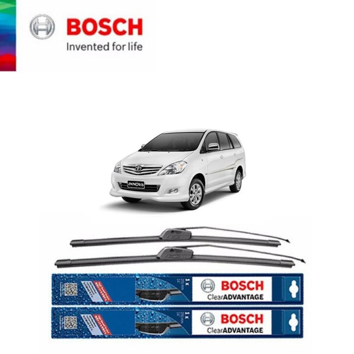 harga Bosch wiper mobil toyota innova 24 da 14 inch clear advantage original Tokopedia.com