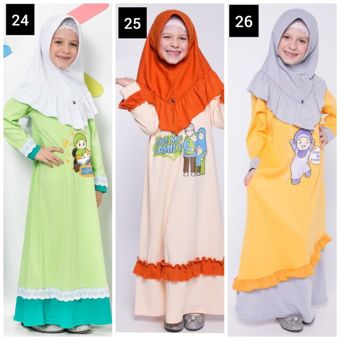 Katalog Muslim Online Y9r8 Murah Grosir Min 3pc Gamis Anak 6 Model  Terbaru G9s5