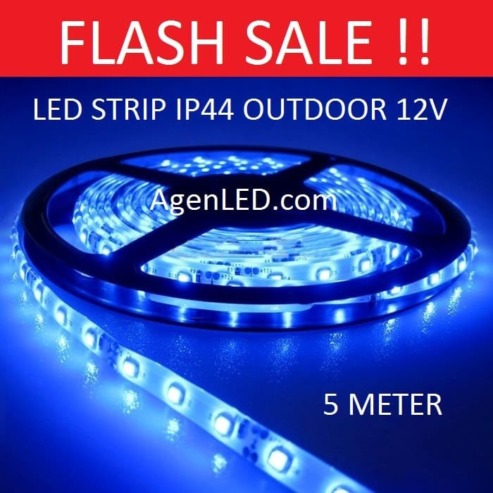 Foto Produk Lampu LED STRIP 3528 SMD 2835 IP44 IP 44 Blue outdoor ledstrip BIRU dari AgenLED