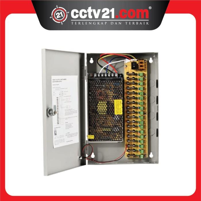 harga Power supply panel box 18 pot dc 12v 20 a for cctv -led-harga grosir Tokopedia.com