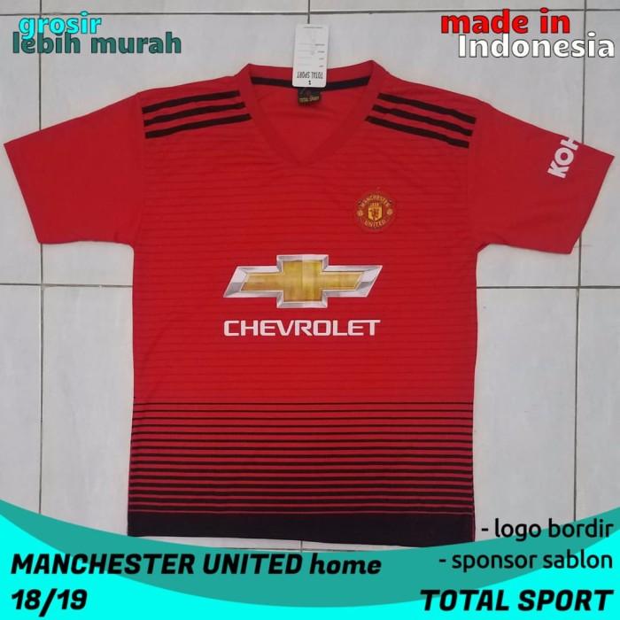 size 40 8aaec 98732 Jual Jersey Sablon Manchester United Home Musim Baru merk Total Sport -  Kota Probolinggo - Fauzan Sport | Tokopedia