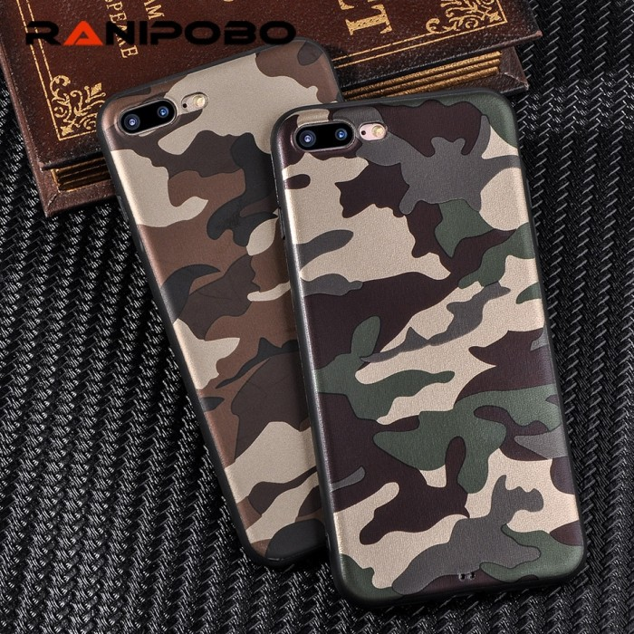 Fashion Army Green Camouflage case for iphone 6 6plus 6s plus 7 7plus