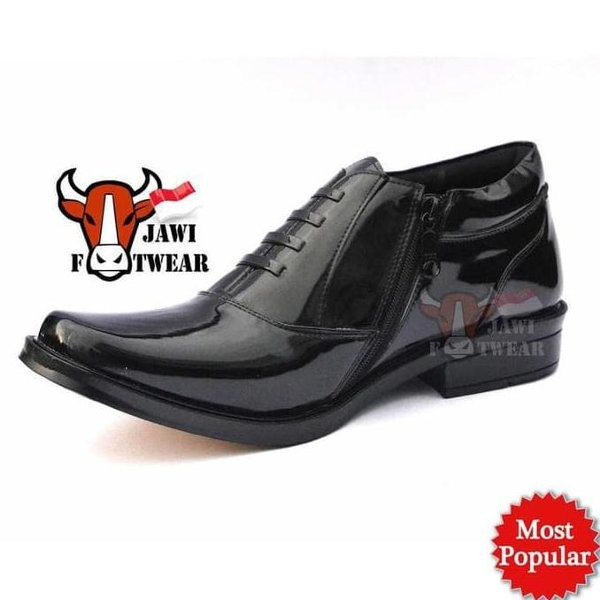 Jual Sale Sepatu Pdh Resleting Kulit Kilap . Tni . Polri . Security ... 22a0b72d96