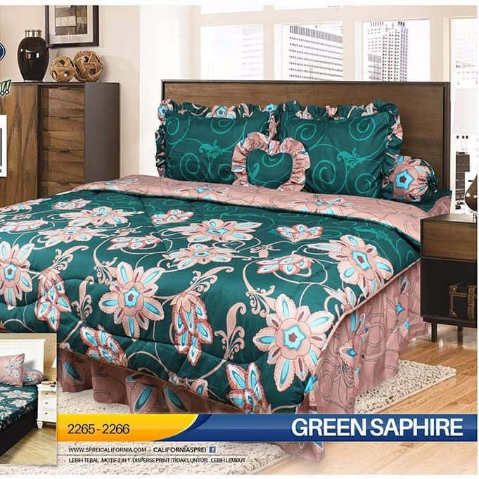 Jual Bedcover Set California My Love King 180x200 Bed Cover
