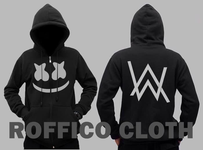 Jual Jaket Hoodie Zipper Logo Dj Alan Walker Dan Dj Marshmello Kab Bandung Barat Markas Fashion Hoodie Tokopedia