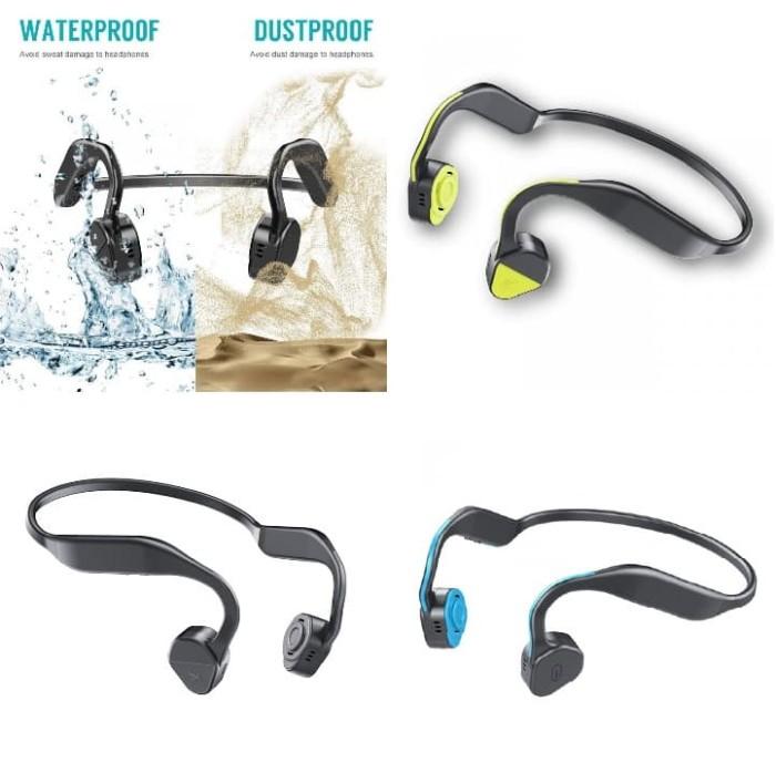harga Wiwu gl100 scorpio bluetooth bone conduction headphone - olb3254 Tokopedia.com