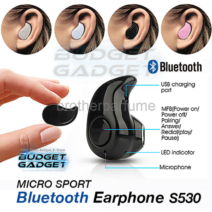 Foto Produk Best Seller Micro Sport Stereo Bluetooth Earphone Wireless S530 dari Brotherparfume