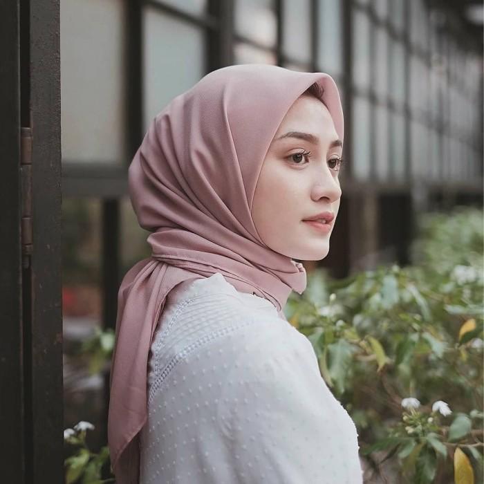 Jilbab Pashmina Diamond Warna Peach Hijabfest