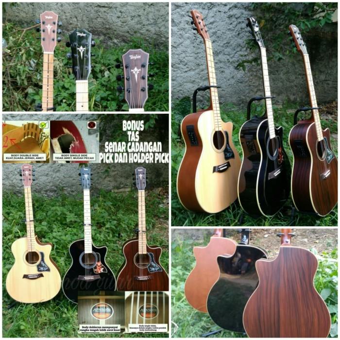 harga Gitar akustik elektrik taylor dobel run finger board mapel yamaha gibs Tokopedia.com