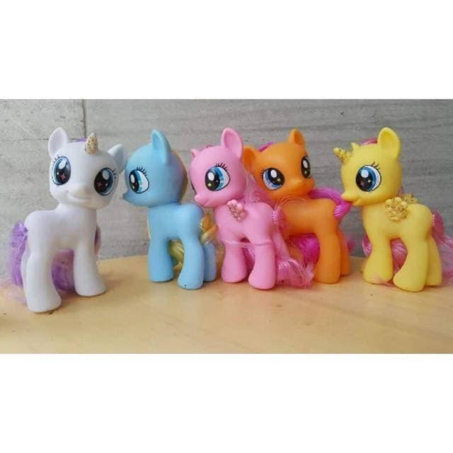 Jual Mainan Anak Perempuan My Little Pony Kuda Poni Set Isi 5 Putih Biru Pi Kota Bandung Van Marvel Tokopedia