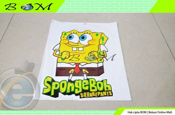 Jual Sticker Stiker Gambar Cartoon Kartun Karakter Spongebob Squarepants Kota Bekasi Anti Gores Murah Tokopedia