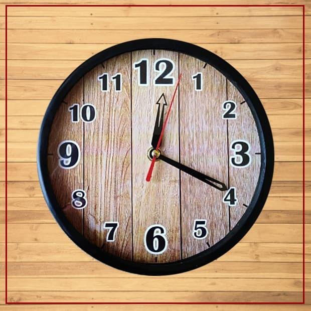 Jam dinding tempel wall clock murah motif kayu wood (mw2013) 73da87c031