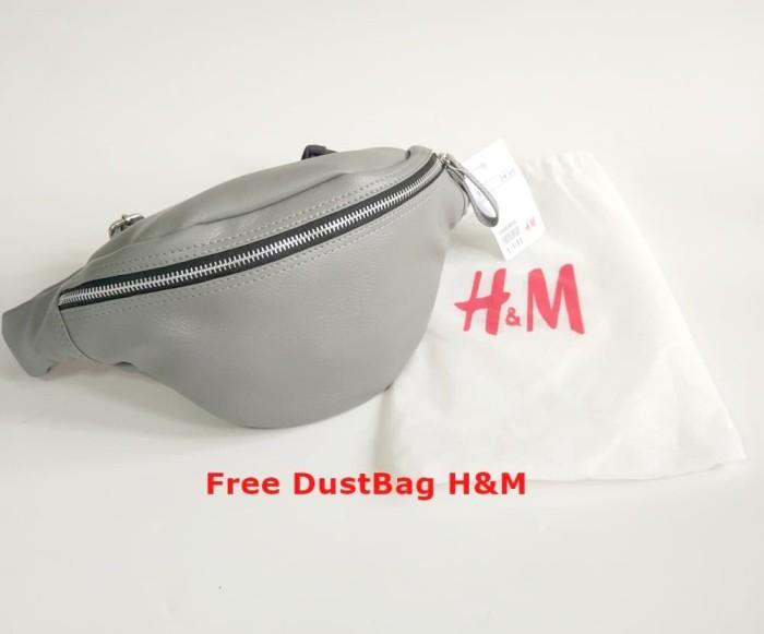 Hm Waistbag / H&m Waist Bag /tas Pinggang Hnm Kulit Unisex - Hitam - Blanja.com