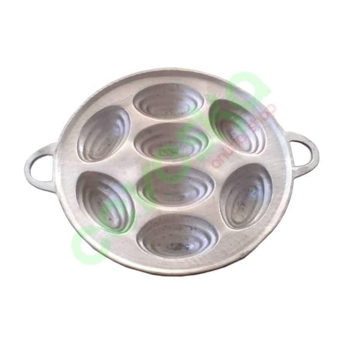 Cetakan kue cubit 8 lubang oval/ Wajan kue cubit