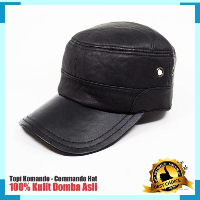 Topi Komando - Commando Hat 100% Kulit Domba Asli