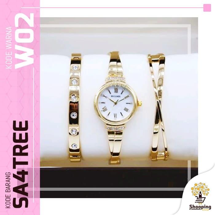 SA4TREE - Bvlgari Jam Tangan Wanita plus Gelang yang Mewah