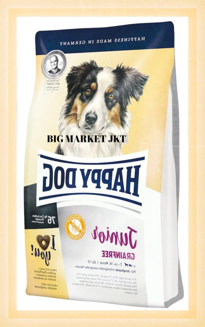 harga Makanan anjing happy dog junior grain free 10kg grab/gojek Tokopedia.com
