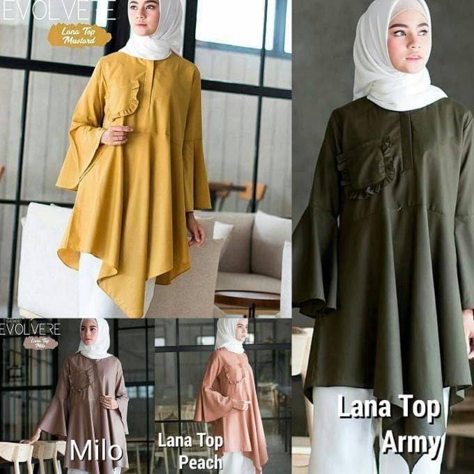 Jual Promo Baju Kancing Depan Atasan Wanita Pakaian Muslim Wanita Kab Aceh Singkil Niken Hijab Collection Tokopedia