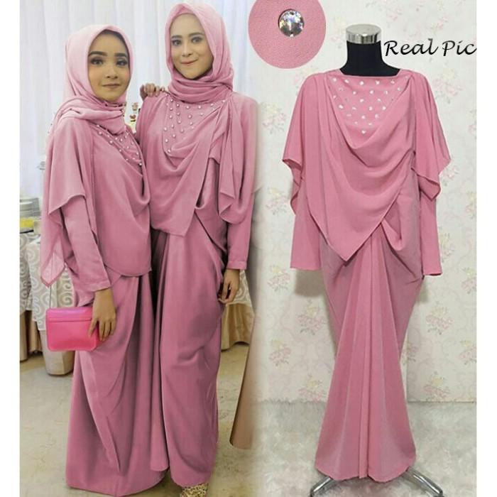 harga Baju busana muslim wanita gamis syari pesta kaftan riyana crep  terbaru Tokopedia.com 625e7bac89