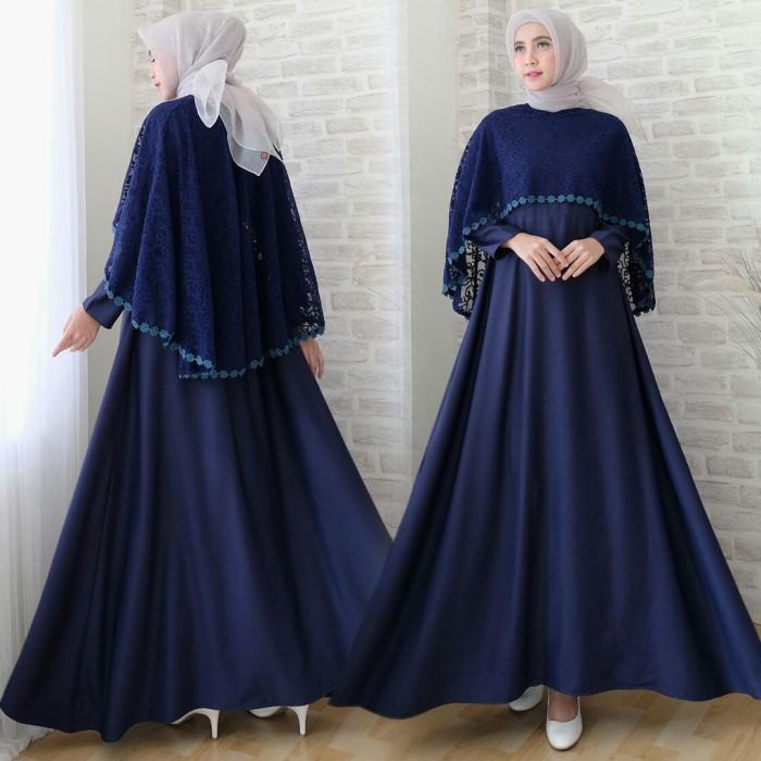 Jual Baju Busana Muslim Wanita Gamis Syari Pesta Sofia Cape Brukat Terbaru Jakarta Utara Nabilla Busana Tokopedia