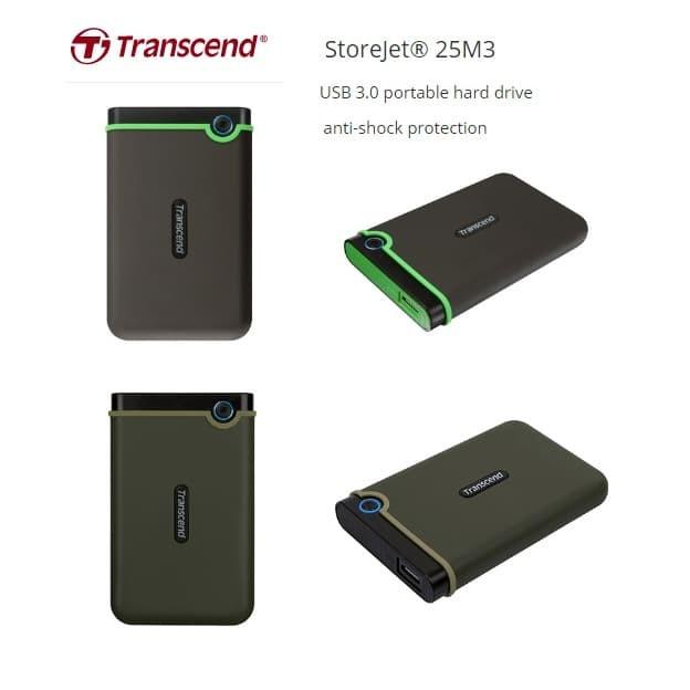 Jual Harddisk Hardisk Eksternal Transcend Storejet 25M3 1TB 1 TB ...