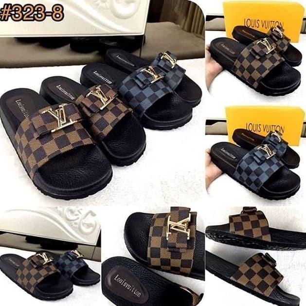 c7297de38dc9 Jual Louis Vuitton Slide Ribbon Casually Sandals SS18 323-8 ...