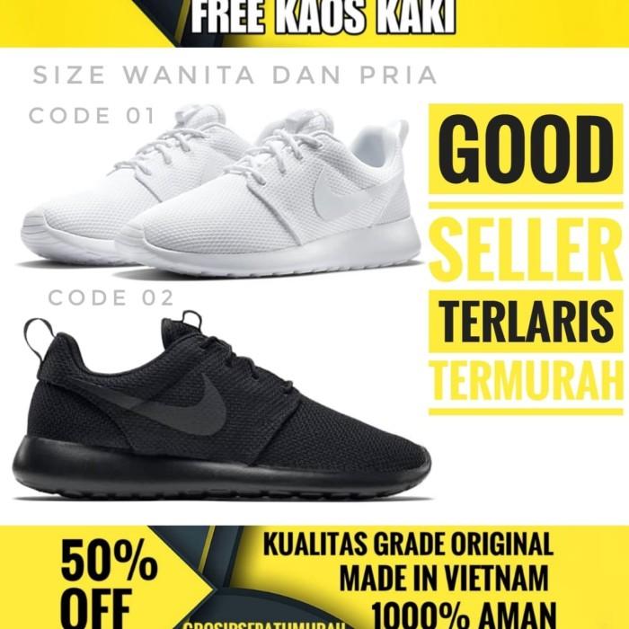 3af55872f5af1 Jual Sepatu Nike Roshe Run Full Black Sneakers Men- Termurah - Kota ...