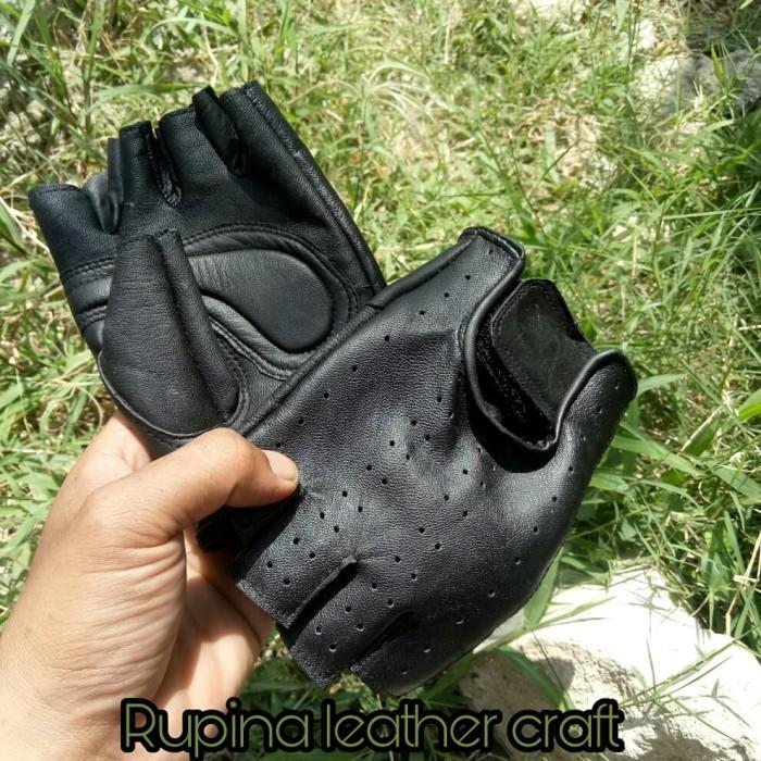 harga Sarung tangan motor kulit asli half japstyle Tokopedia.com