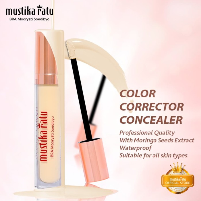 harga Mustika ratu warna kuning kosmetik wajah corrector concealer anti air Tokopedia.com