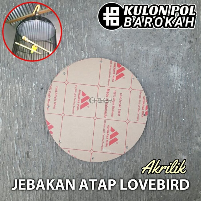 harga Jebakan atap lovebird akrilik tebal seperti kaca plafon sangkar burung Tokopedia.com