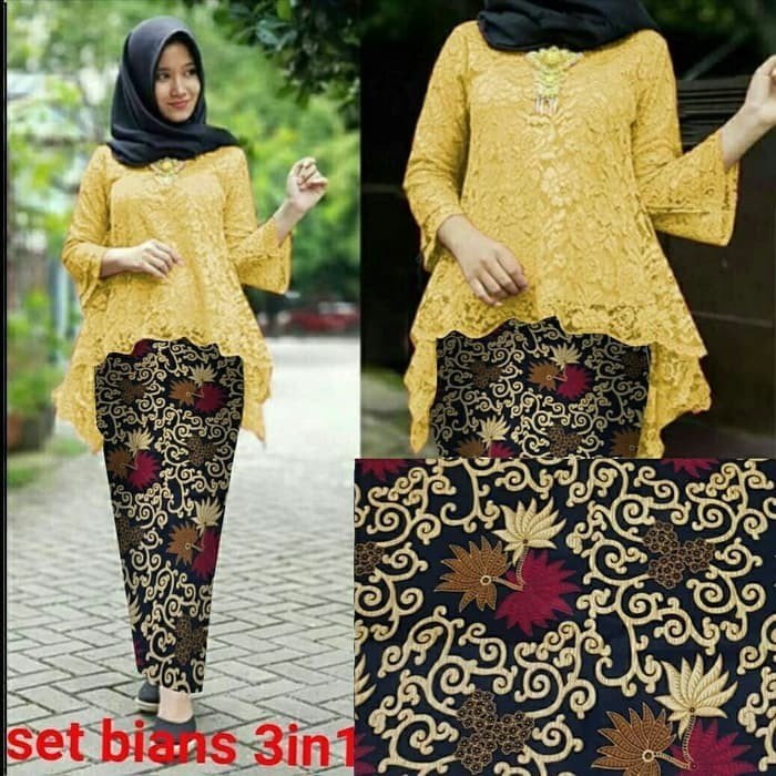Jual Baju Kebaya Brokat Pinguin Set Kebaya Modern Pesta St Wanita Mustad Kota Bogor Munawaroh Fashion Tokopedia