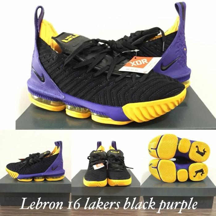 new style 1b5d5 98584 Jual Lebron 16 Lakers Black Purple - Kota Batam - Runnerstore   Tokopedia