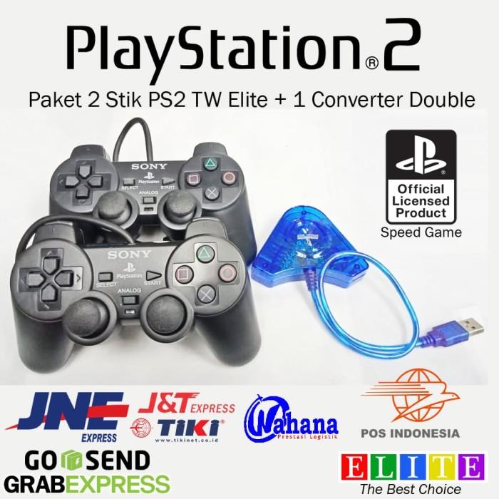 PC USB Convert Adapter Dual PS1 PS2 handle PSX Game Console Joystick BSG