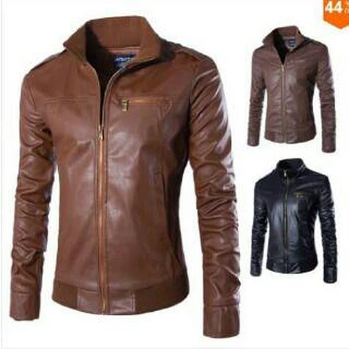 Jual jaket kulit sintetis pria cek harga di PriceArea.com 272d7034b1