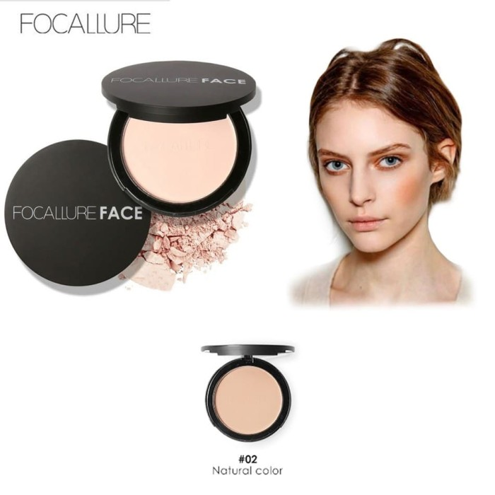 [ no 2 - natural ] focallure bedak padat concealer - compress powder